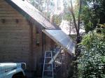 西側の屋根工事