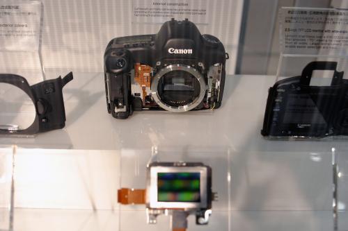 前から見たEOS5Dの内部