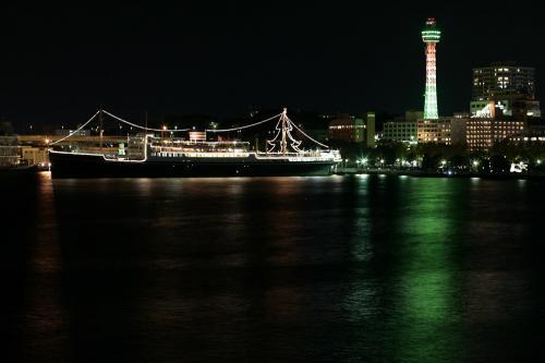 大桟橋から見た夜景3