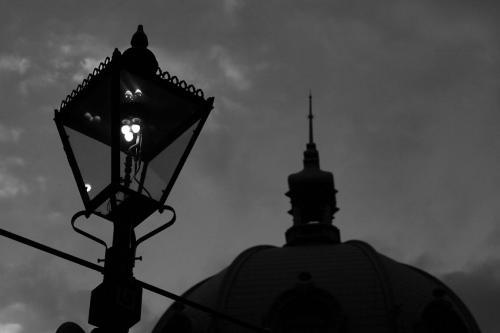 馬車道の瓦斯灯