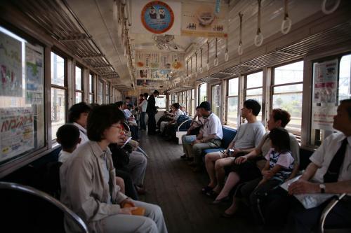 銚子電鉄801車内