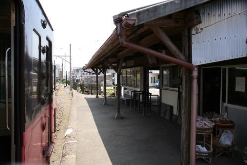 銚子電鉄外川駅舎ホーム