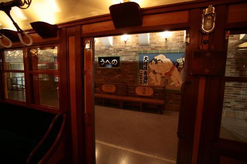 地下鉄博物館15東京地下鉄1000系車内からホーム2