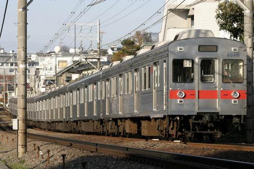 東急8000系8039F未更新車@菊名第3踏切