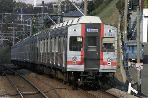 東急8000系8021F方向幕車@妙蓮寺