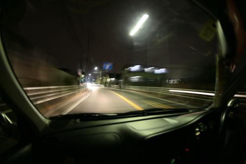 魚眼・車から見た光景1