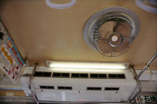 福島交通7000系の扇風機と冷房機