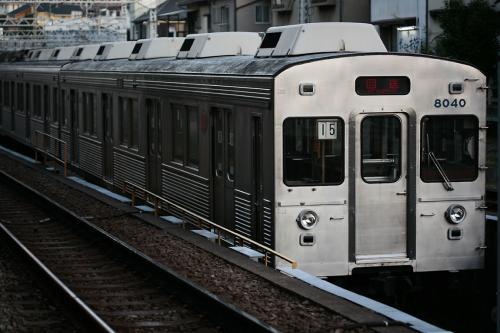 東急8000系8039F@菊名の引込み線で起きた2