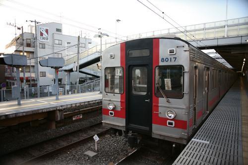 東急8000系8017F@菊名のホームで寝てる1