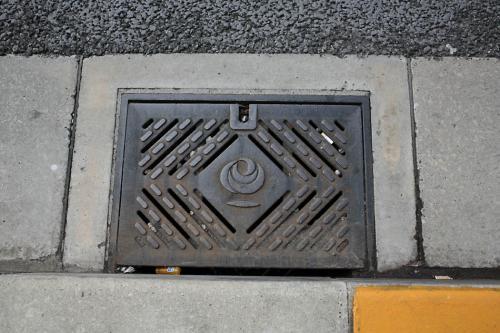 西馬込のマンホール2(路肩排水口1)
