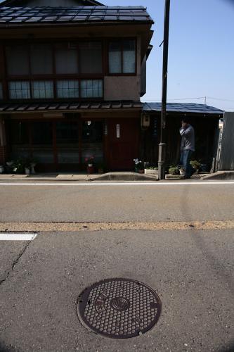 会津若松市のマンホール5(4の撮影現場)