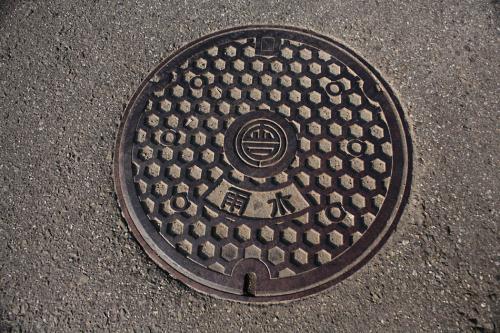 会津若松市のマンホール11(雨水用)