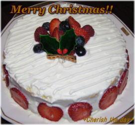 クリスマスケーキ☆061224