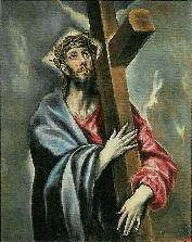 「十字架を抱くキリスト」エル・グレコ