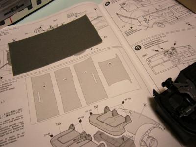 カーペットと設計図