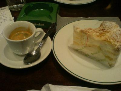 エスプレッソ & ケーキ