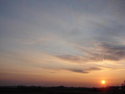 2006 12 31 夕陽