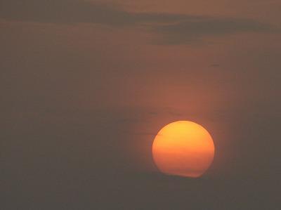 八月一日の夕陽