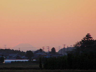 夕焼け&富士山