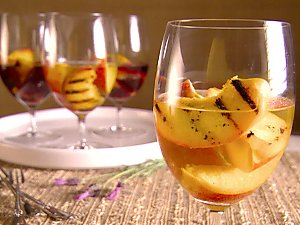 peaches in wine