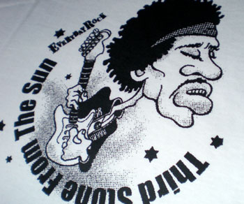 EverydayRock T Shirt Jimi Hendrix Caricature
