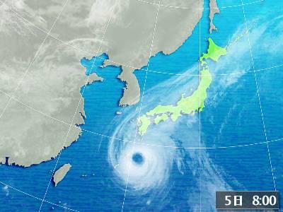 台風14号 衛星画像
