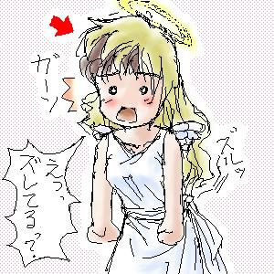 絵掲絵(天使の金髪ロングヘア)