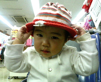 縞々帽子♪