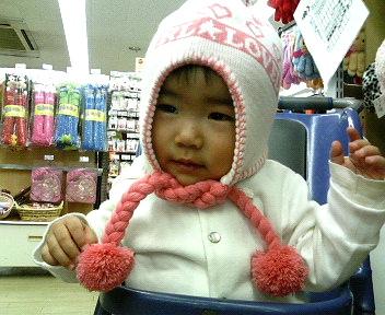 ピンクの帽子♪