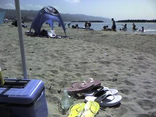 砂浜でちょっと休息♪
