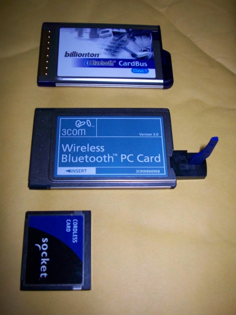 PCMCIA Bluetooth cards