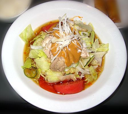 ピリ辛バンバンジー冷麺