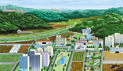 JA広島:パンフレット見開イラスト