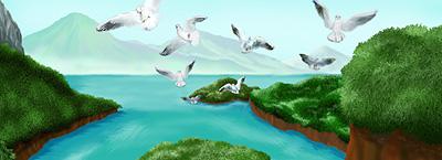 小鳥が空へ