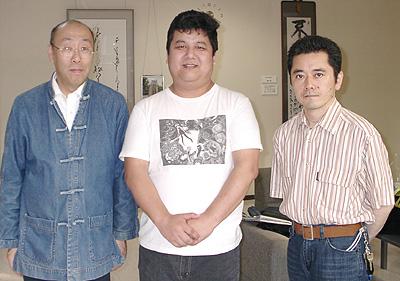 青島広志氏とKOJIと小野勉氏のスリーショット