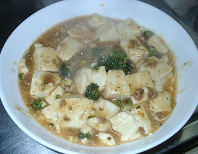 絹鍋を使って麻婆豆腐
