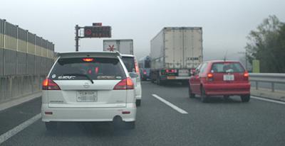 山陽自動車道の事故渋滞