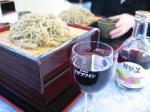 蕎麦と赤ワイン