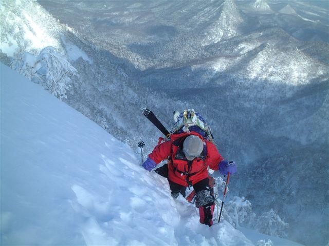札幌岳直下の急登