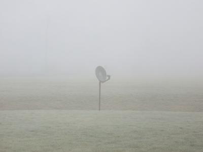 霧の中のアンテナくん