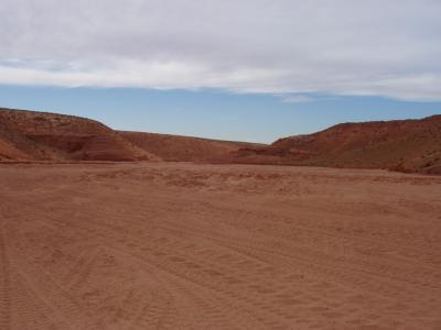 砂漠の光景