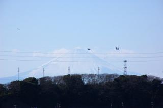 20070312 初声中学校 富士山