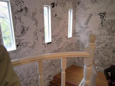 階段一面の絵