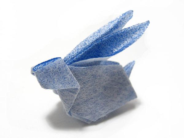 すべての折り紙 折り紙 うさぎ 折り方 立体 : 発達障害の子++母と子の折り紙 ...