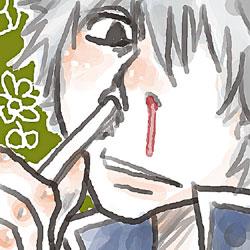 銀さん歯磨きで鼻血