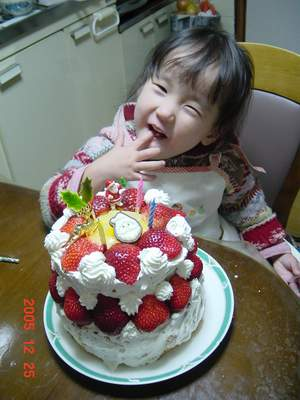 2005.12.25 クリスマスケーキ.JPG