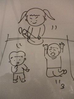 2007.3.23 凪ちゃんの鉄棒の様子イラスト.jpg