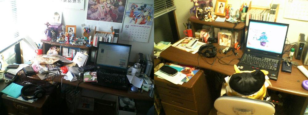 一番汚くなるのはやはり机。これならリースタンも満足!