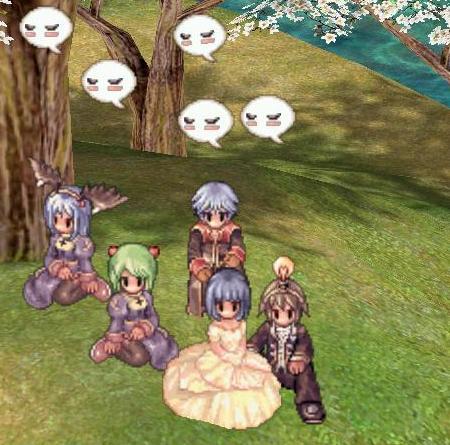 アマツ桜の木の下で記念撮影