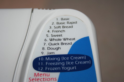 ブレッド&アイスクリームメーカー